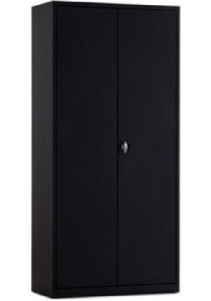Draaideurkast 195 zwart hoog inclusief 4 legborden VDB Kantoortotaal