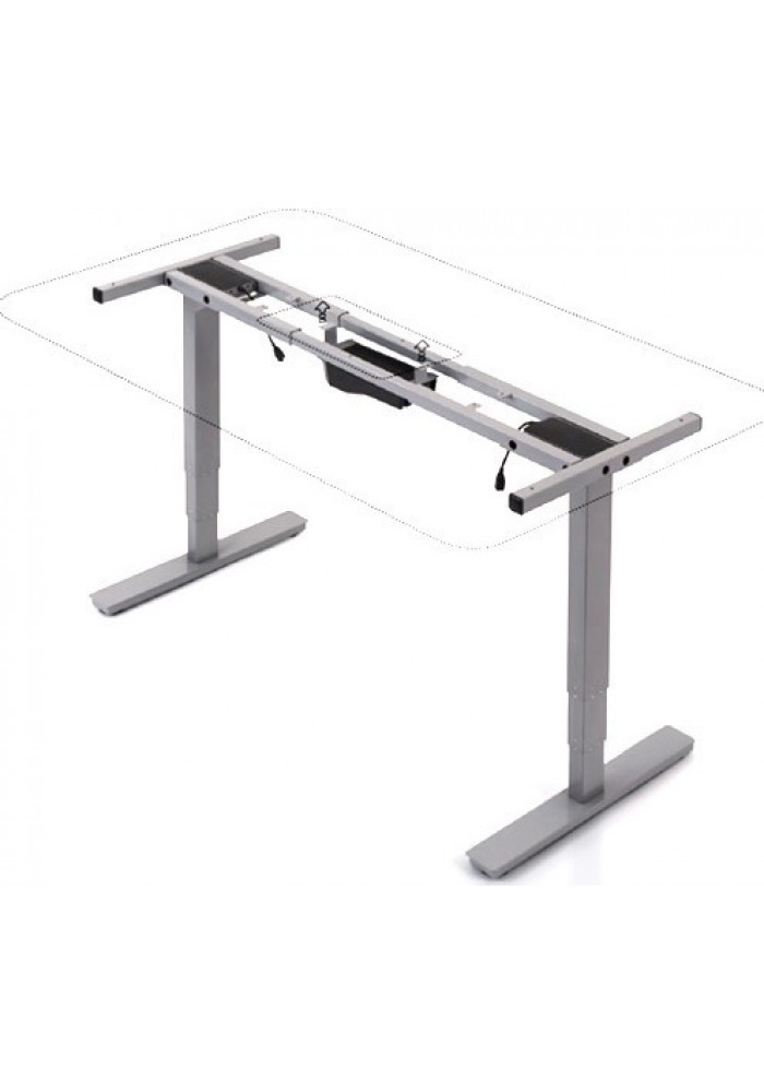 Elektrisch zit sta bureau 62 cm 123 cm vdb kantoortotaal for Bureau zit sta