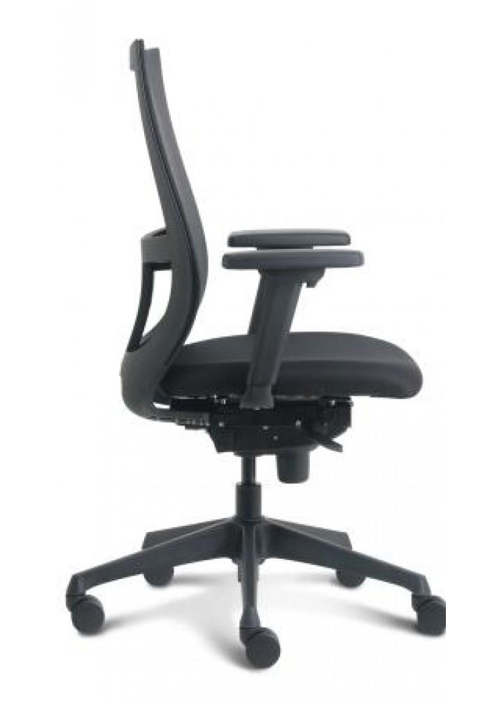 Verstelbare Bureaustoel Zwart.Bureaustoel Curve Van Euroseats Nen En 1335 Zwart Met Verstelbare