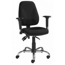 Bureaustoel Palma is een basic professionele stoel zwart chroom.  GEEN VERZENDKOSTEN.