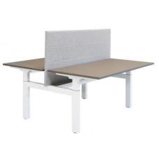 Huislijn Project duo hoogte verstelbaar bureau 62-86 cm inclusief kabelgoot.   (Uit voorraad leverbaar)
