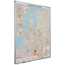 Landkaart Smit-visual op een beschrijfbaar en magneethoudend email staal bord afgewerkt met een softline profiel. Div. landen,  LEVERBAAR UIT VOORRAAD