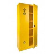 Milieukast / Chemiekast / Veiligheidskast / Vloeistoffenkast 195 hoog inclusief 4 verstelbare lekvrije legborden. (UIT VOORRAAD LEVERBAAR)