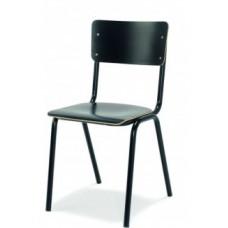 Back to school  Stoel MX (Zuiver) hpl zitting en rug in de kleur-Zwart, ook in Wit leverbaar. GOEDKOOPSTE VAN NEDERLAND