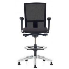 Balie/Counter stoel Se7en VE3462CW net Counter Prosedia by Interstuhl netbespanning zwart incl. glijders  GOEDKOOPSTE VAN NEDERLAND