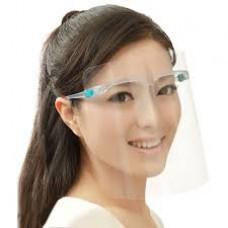 Shield with Glasses plastic. (Beschermingsmasker)   Ideaal voor op kantoor.  EXCLUSIEF BIJ VDB KANTOORTOTAAL