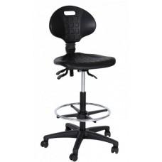 Techniker/ Werkstoel/ Loketstoel/ Balie/ Counter-Stoel met Chromen voetring.  GRATIS VERZENDING