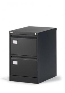 Dossierladekast 2 laden geschikt voor A4 en folio hangmappen|VDB Kantoortotaal Zwart
