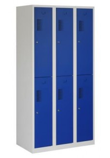 Garderobekast 6 deurs blauw