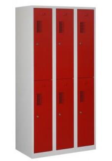 Garderobekast 6 deuren rood