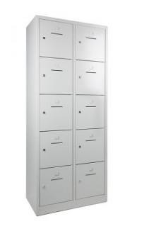 Lockerkast SHC 10 deurs lockers grijs|VDB Kantoortotaal