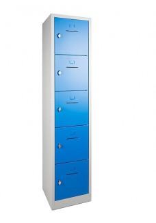 Lockerkast SHC 5 deurs Grijs/Blauw|VDB Kantoortotaal