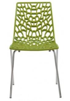 Designstoel / kantinestoel Move Groen