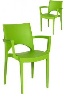 Kantinestoel, Kunsstof Parri + Ar groen|VDB Kantoortotaal