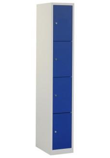 Locker 4 deurs grijs blauw