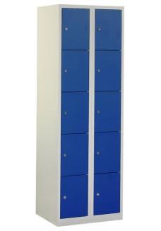 Lockerkast 10 deurs grijs blauw