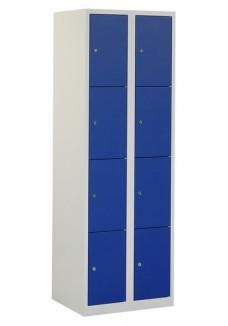 Locker 8 deurs grijs blauw