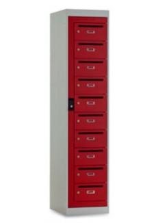 Postkast 10 deuren rood