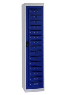 Posatkast 15 deuren blauw