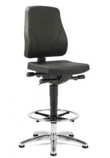 Werkstoel Se7en Industry PUR zwart