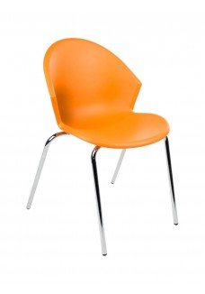 Kantinestoel SMILE kleur Oranje|VDB Kantoortotaal