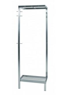 De Square is een staande kapstok met een RVS-look welke aan de wand bevestigd dient te worden