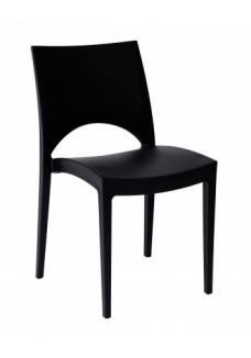 Kantinestoel / terrasstoel Parri Zwart VDB Kantoortotaal
