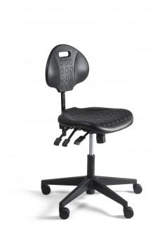 Techniker/ Werkstoel/ Loketstoel/ Balie/ Counter-Stoel LAAG met Chromen voetring|VDB Kantoortotaal