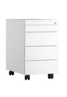 Rolblok 3 laden + 1 pennenlade  55 x 39 x 60 in de kleur grijs, zwart, aluminium of wit|VDB Kantoortotaal