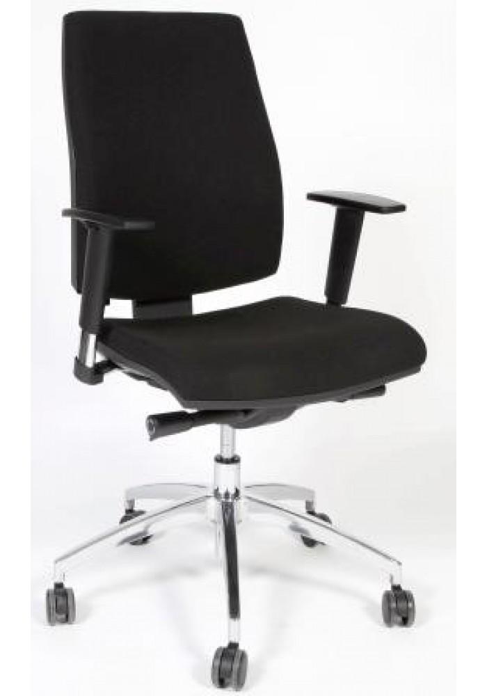 Bureaustoel Bob zwart chroom EN-1335 VDB Kantoortotaal