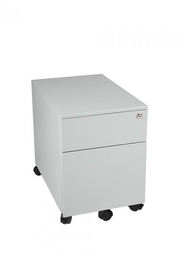Rolblok 2 laden 55 x 39 x 60 in de kleur Grijs, Zwart, Aluminium of Wit|VDB Kantoortotaal