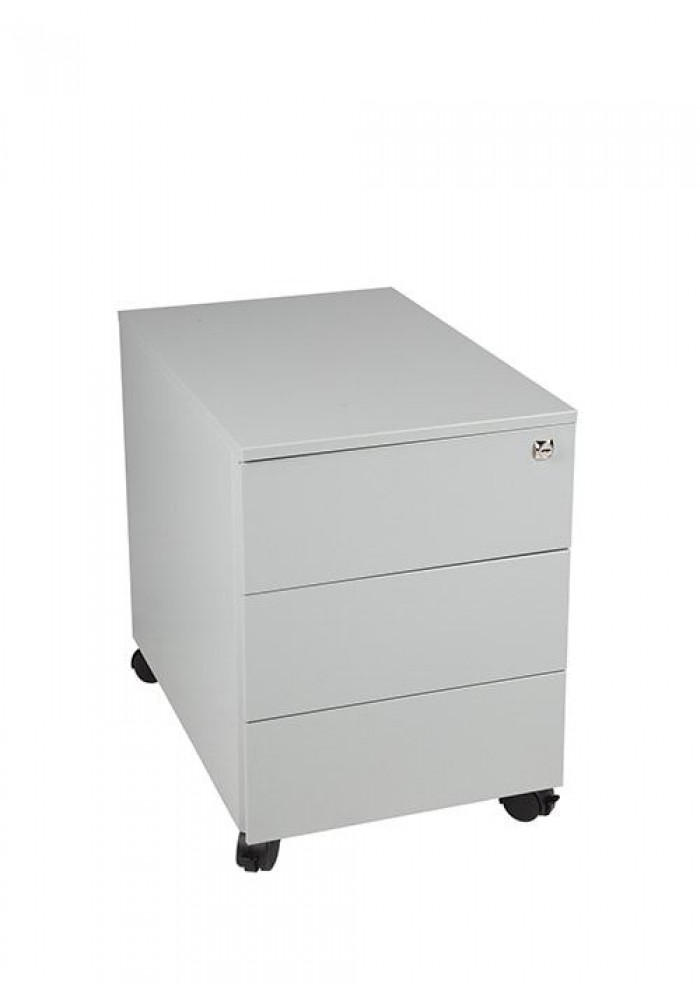 Rolblok 3 laden 55 x 40 x 60 in de kleur Grijs, Zwart, Aluminium of Wit|VDB Kantoortotaal