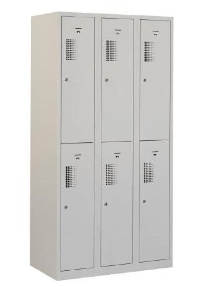 Garderobekast 6 deurs grijs