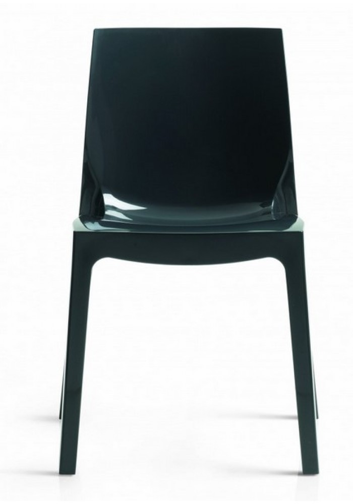 kunsstofstoel cologna hoogglans antraciet