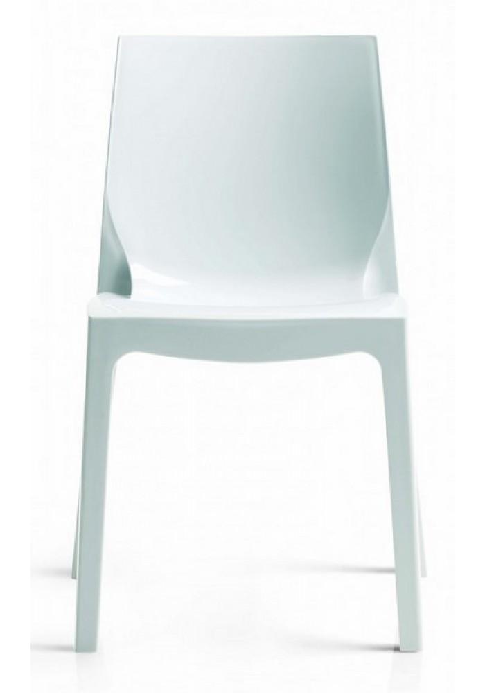 kunsstofstoel cologna hoogglans wit