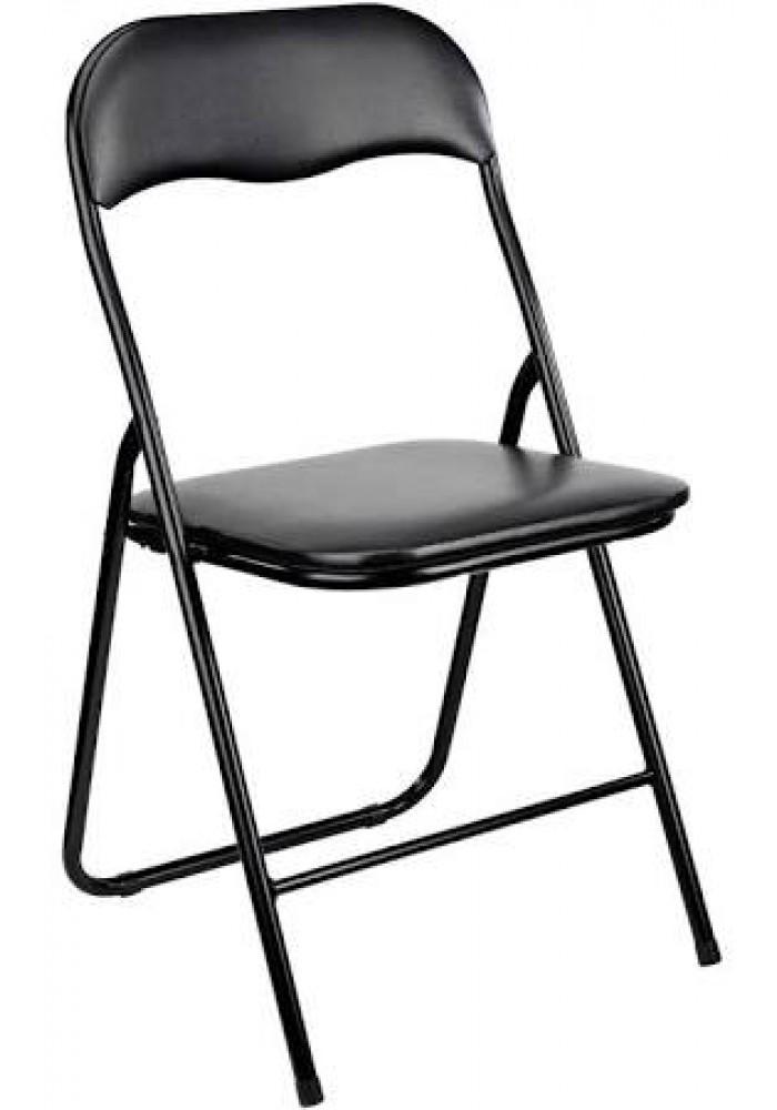 Klapstoel Zwart inklapbaar|VDB-Kantoortotaal