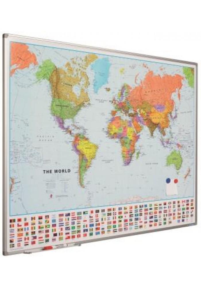landkaart softline wereld smit visuel