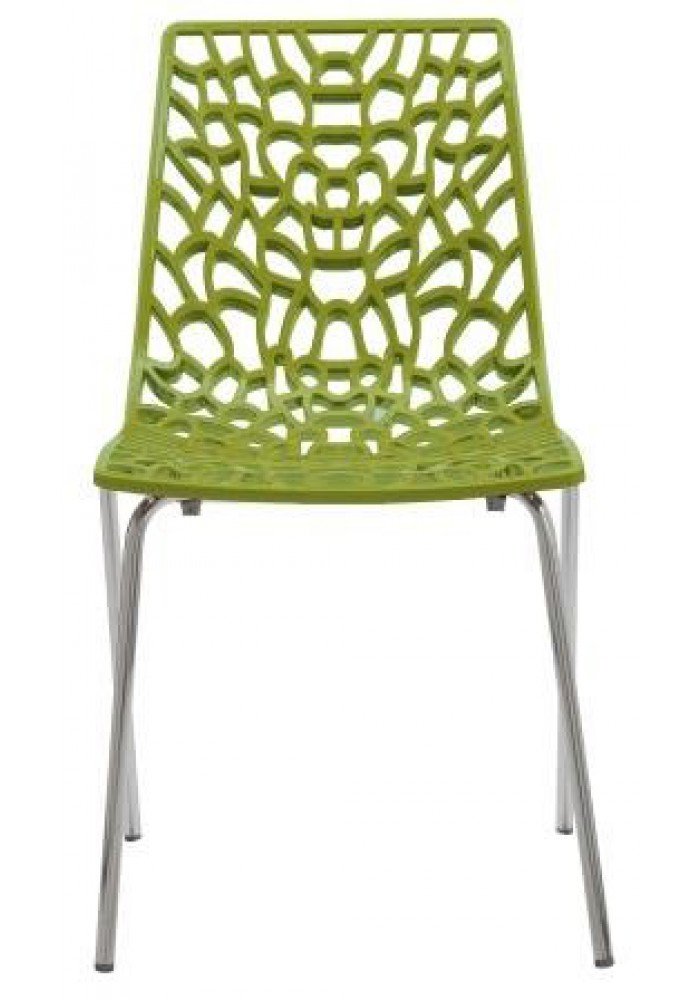 Designstoel / kantinestoel Move hoogglans Groen|VDB Kantoortotaal