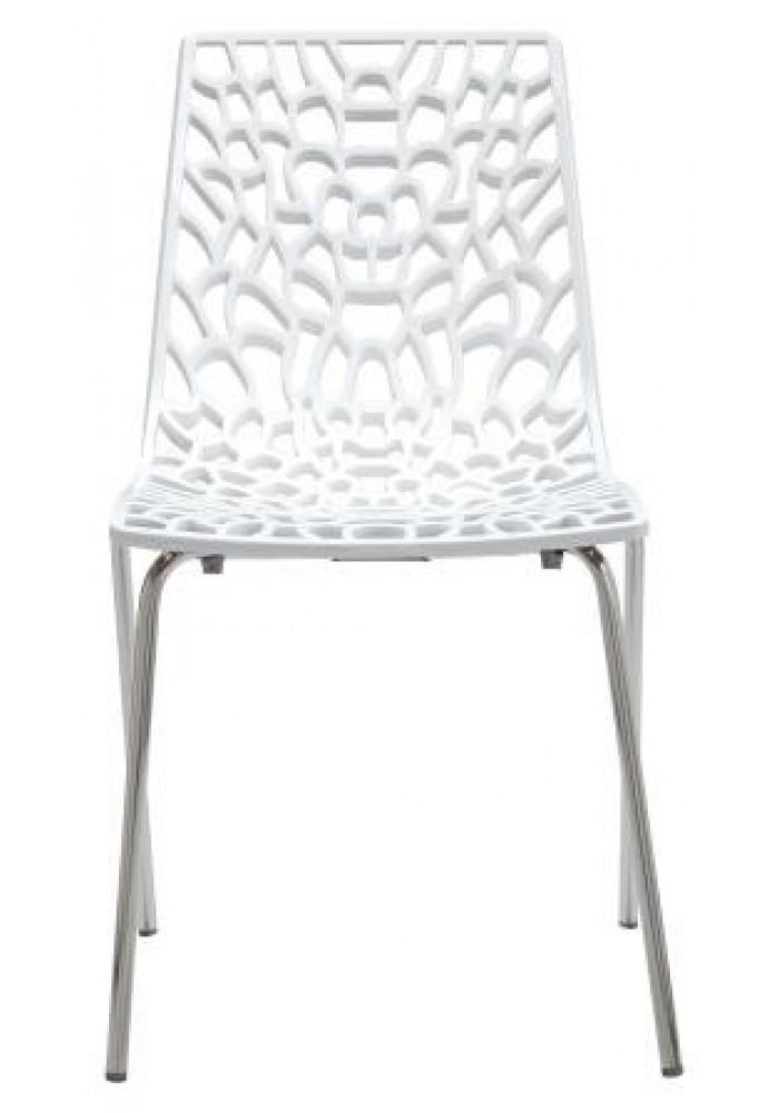 Designstoel / kantinestoel Move hoogglans Wit|VDB Kantoortotaal