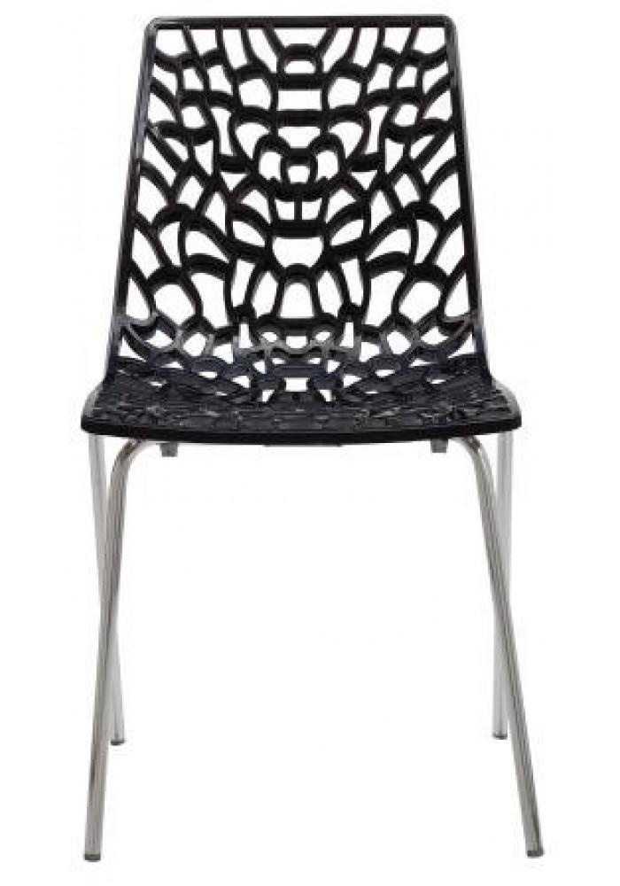 Designstoel / kantinestoel Move hoogglans Zwart|VDB Kantoortotaal