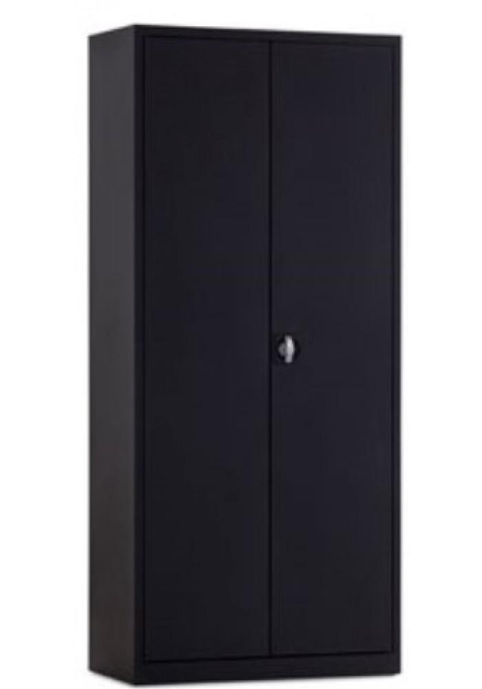 Draaideurkast zwart 180 cm