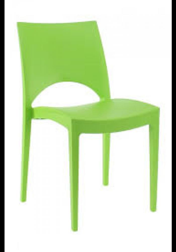 Kantinestoel/ terrasstoel/kunststofstoel Parri groen|VDB Kantoortotaal