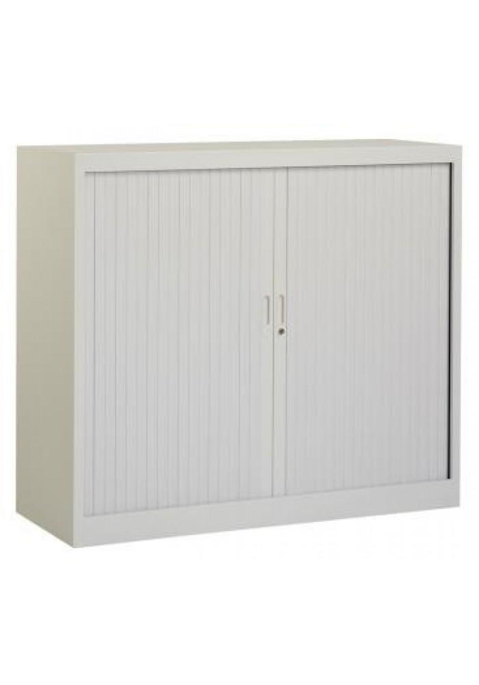 Roldeurkast 105 hoog grijs incl. 2 legborden