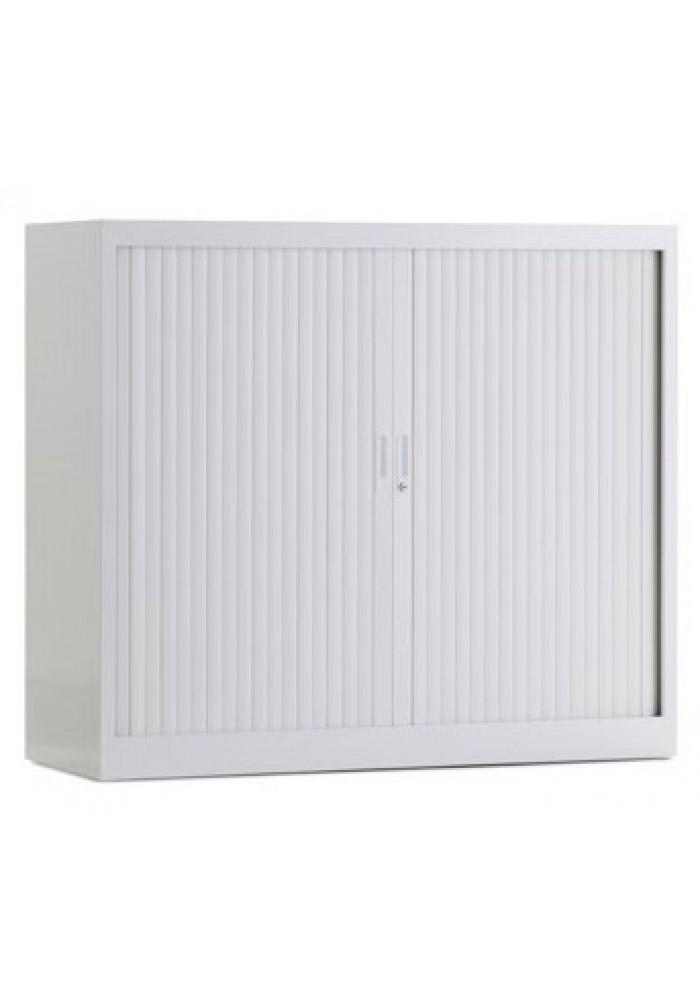 Roldeurkast 105 hoog wit incl 2 legborden