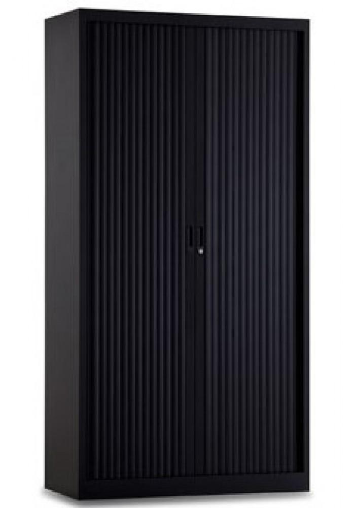 roldeurkast 195-100 cm zwart