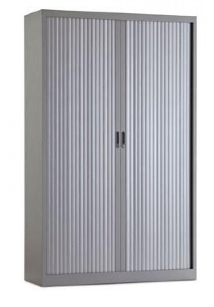 Roldeurkast/Archiefkast Aluminium 1950 x 1200 x 450 incl 4 legborden  VDB Kantoortotaal
