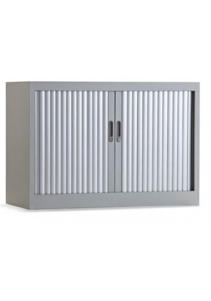 Roldeurkast 70 cm 1 legbord aluminium