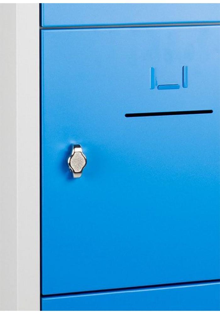 Lockerkast SHC 10 deurs lockers grijs/blauw|VDB Kantoortotaal