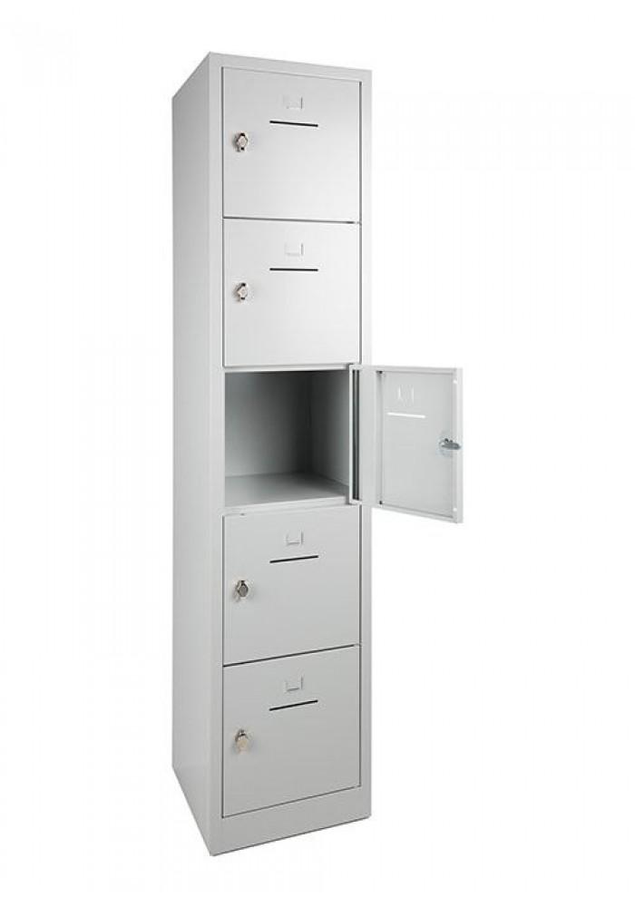 Lockerkast SHC 5 deurs Grijs/open|VDB Kantoortotaal