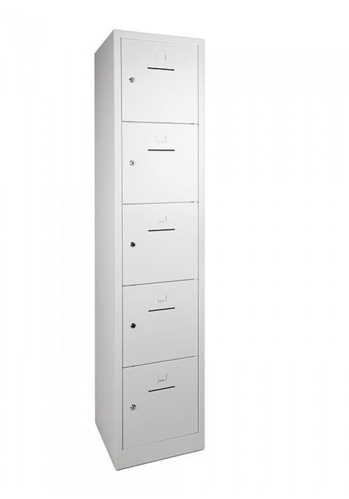 Lockerkast SHC 5 deurs Wit|VDB Kantoortotaal